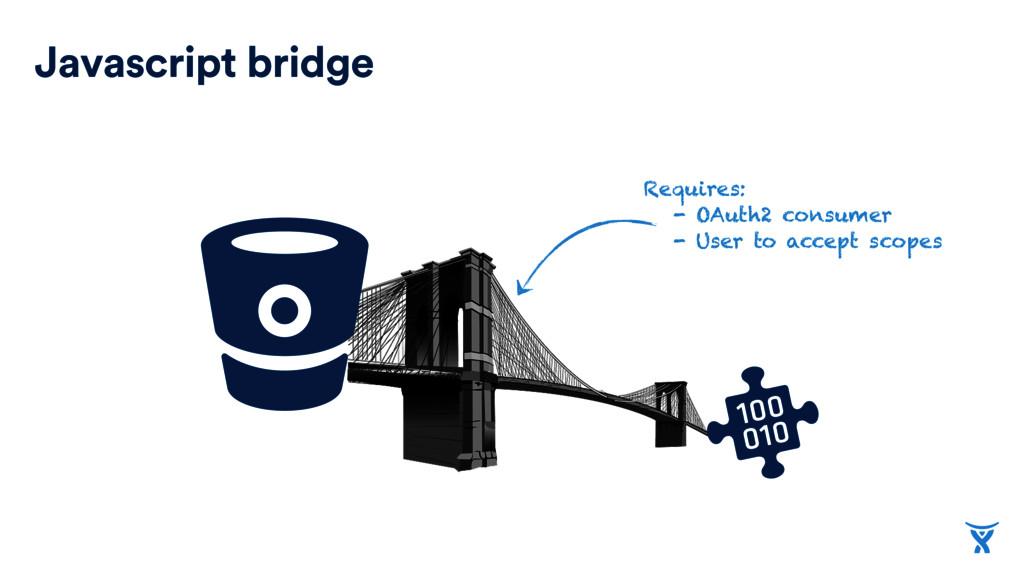 Javascript bridge Requires: - OAuth2 consumer -...