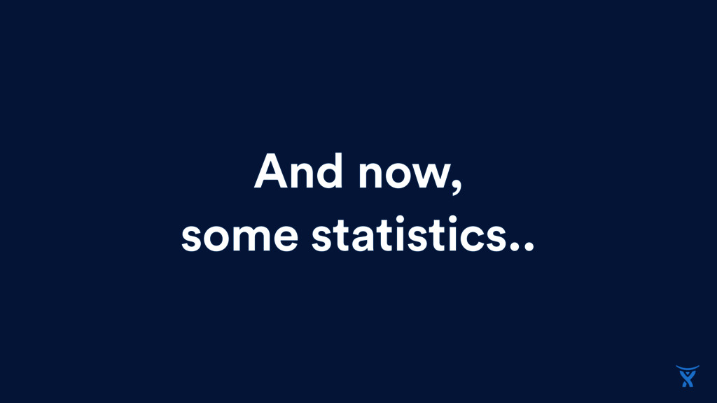 And now, some statistics..