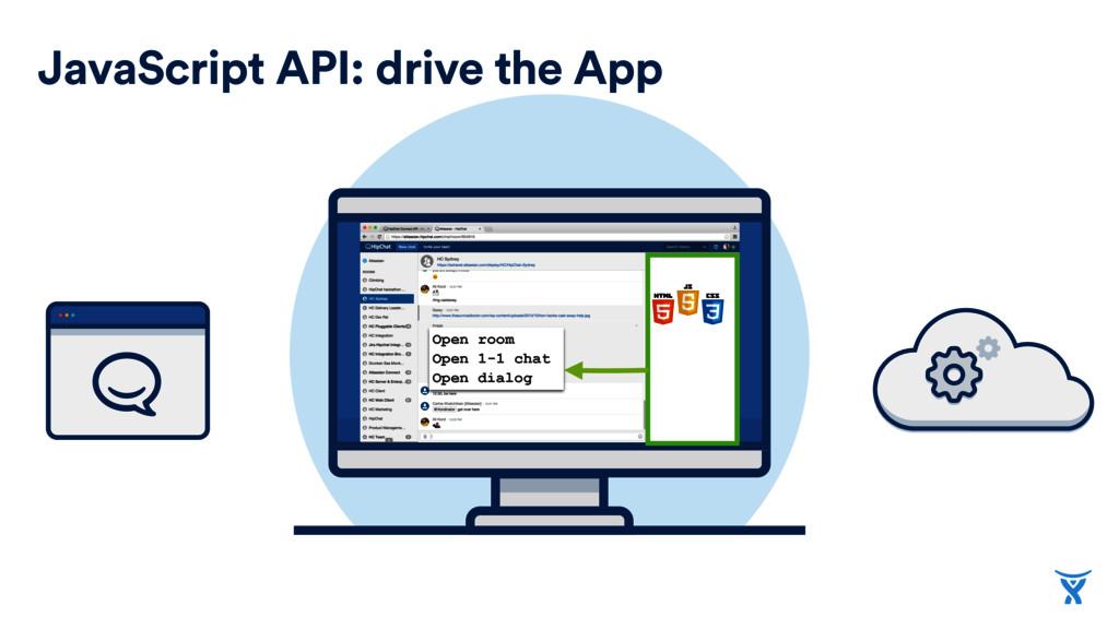 JavaScript API: drive the App Open room Open 1-...