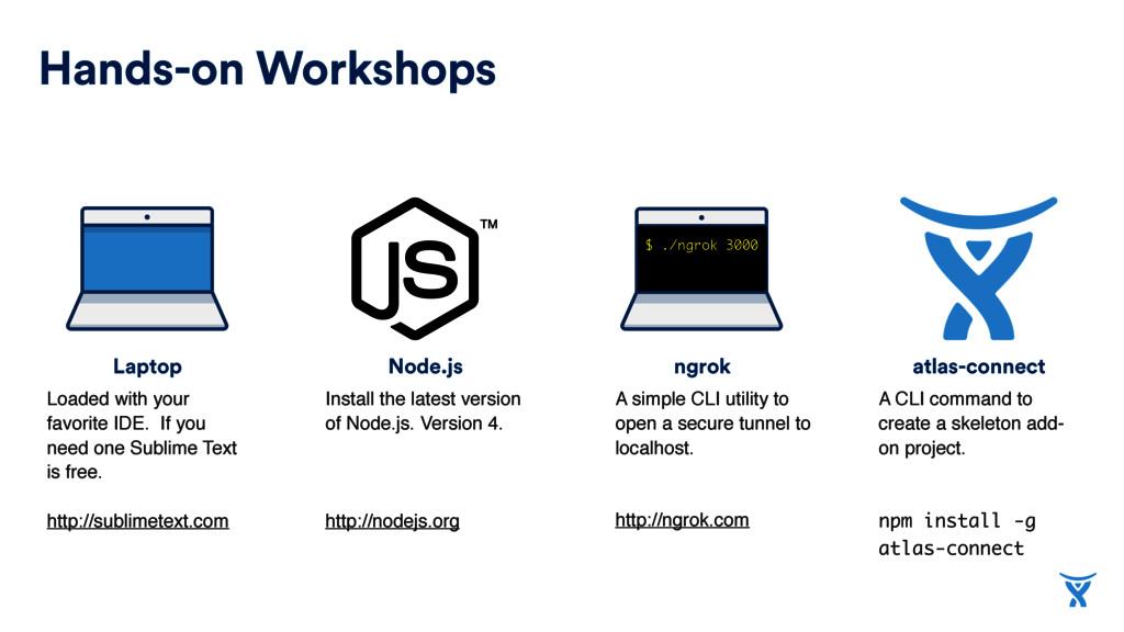 atlas-connect Node.js Laptop Hands-on Workshops...