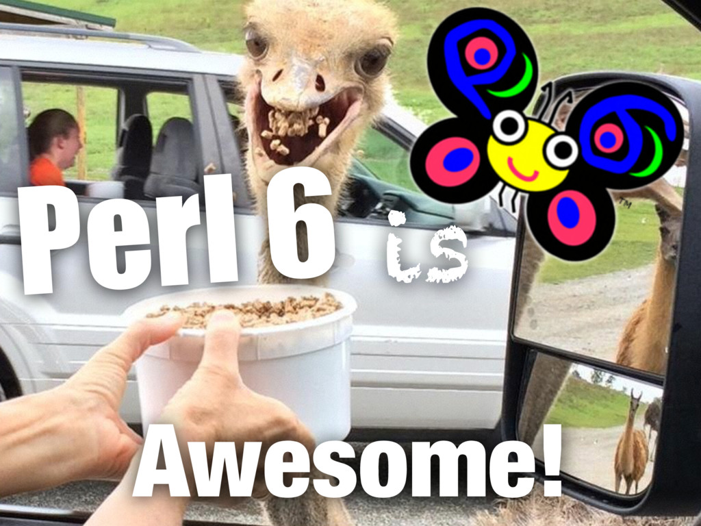 Awesome! Perl 6 is