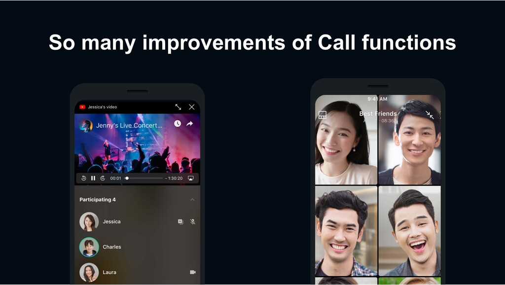 So many improvements of Call functions