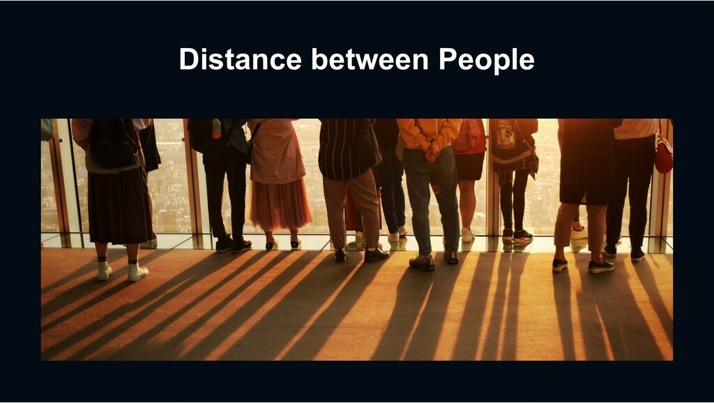 Distance between People