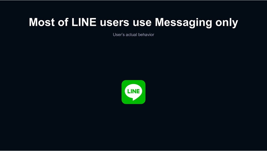 Most of LINE users use Messaging only User's ac...