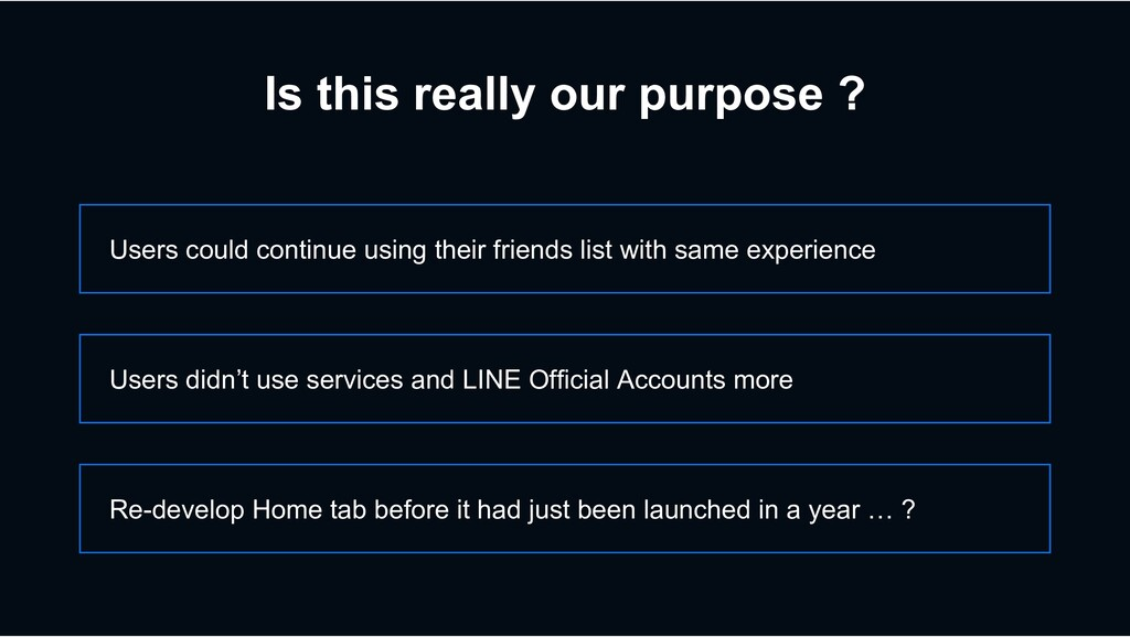 Is this really our purpose ? Users could contin...