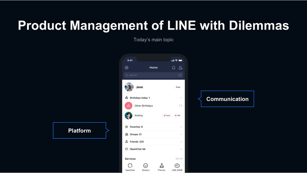 Product Management of LINE with Dilemmas Today'...