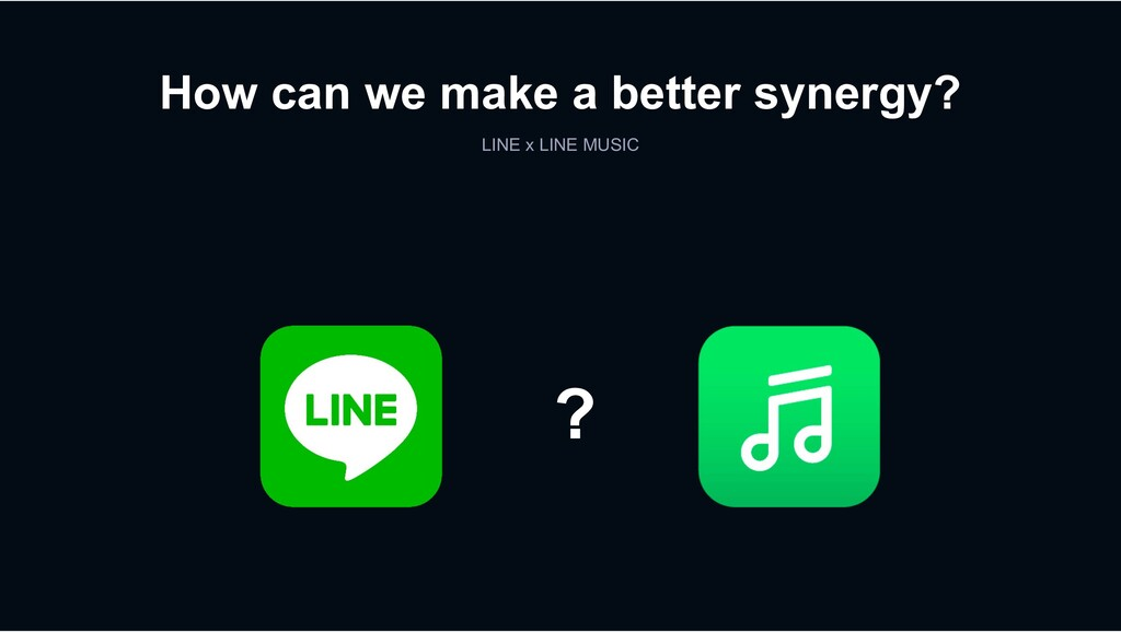 How can we make a better synergy? LINE x LINE M...