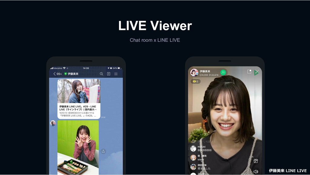 LIVE Viewer Chat room x LINE LIVE 伊藤美来 LINE LIVE