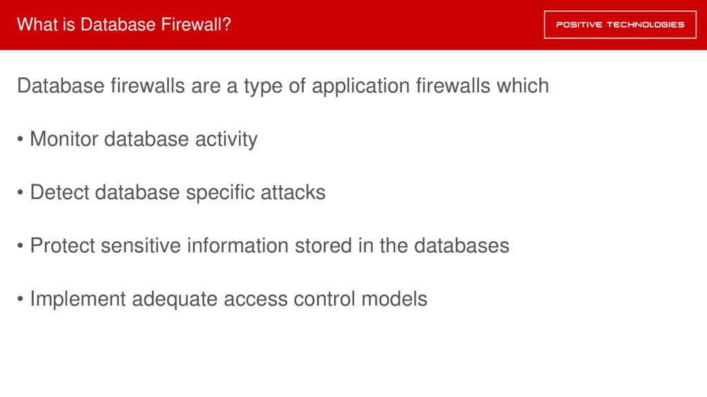 What is Database Firewall? Database firewalls a...