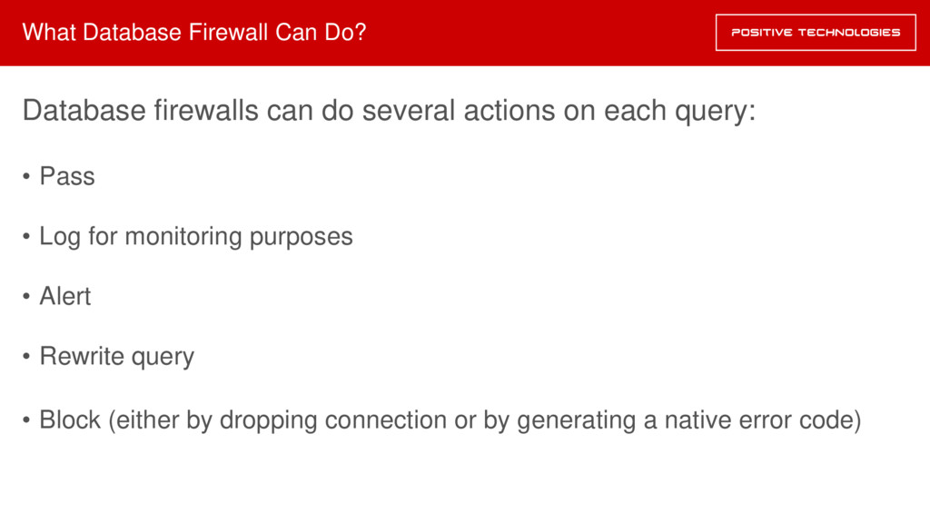 What Database Firewall Can Do? Database firewal...