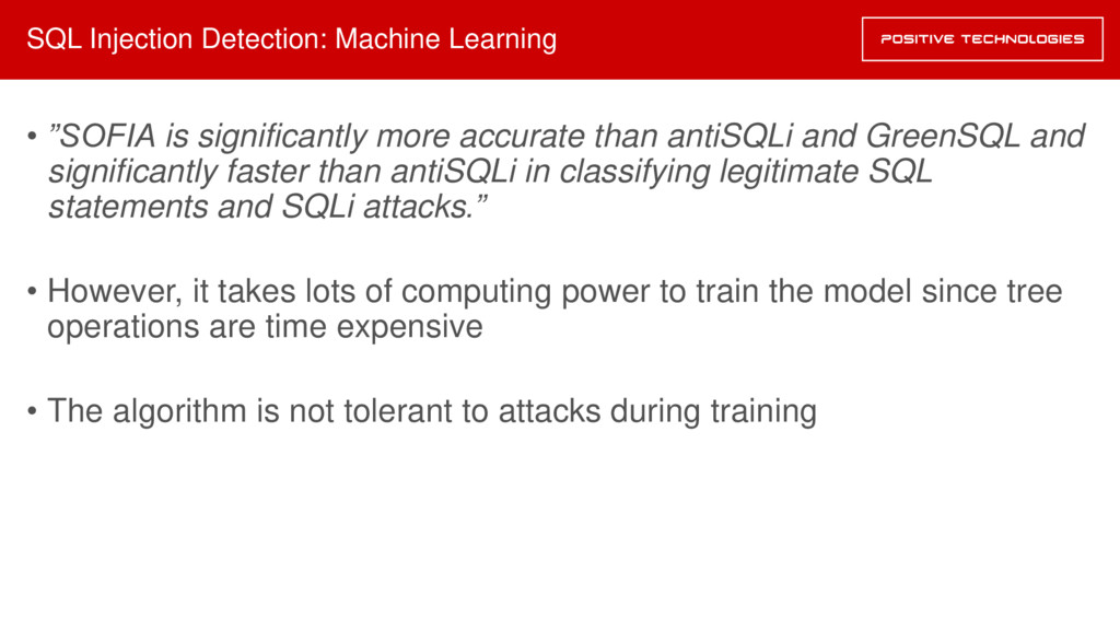 "SQL Injection Detection: Machine Learning • ""SO..."