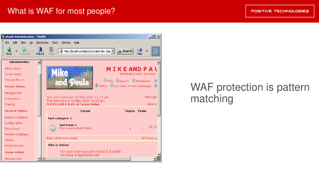 What is WAF for most people? WAF protection is ...