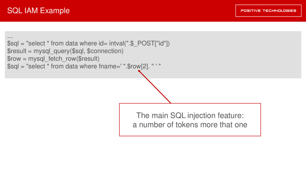 "SQL IAM Example … $sql = ""select * from data wh..."