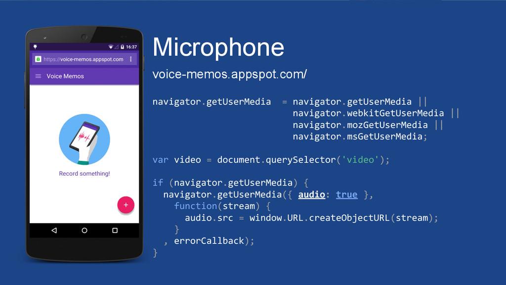 Microphone voice-memos.appspot.com/ navigator.g...