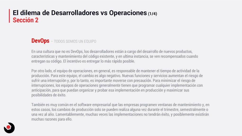 El dilema de Desarrolladores vs Operaciones (1/...