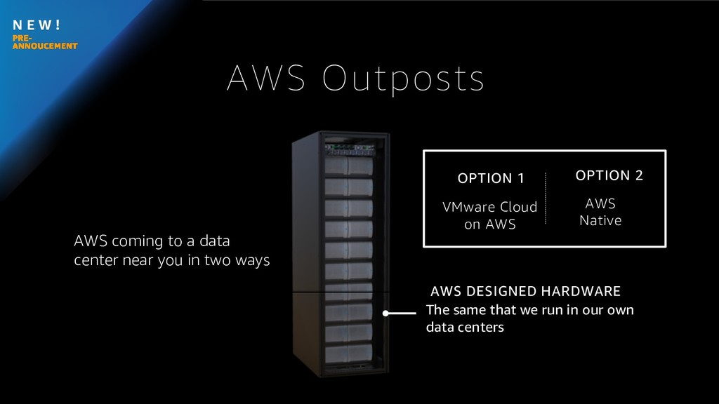 N E W ! AWS coming to a data center near you in...