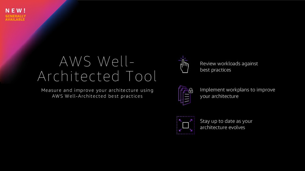 N E W ! AWS Well- Architected Tool Measure and ...