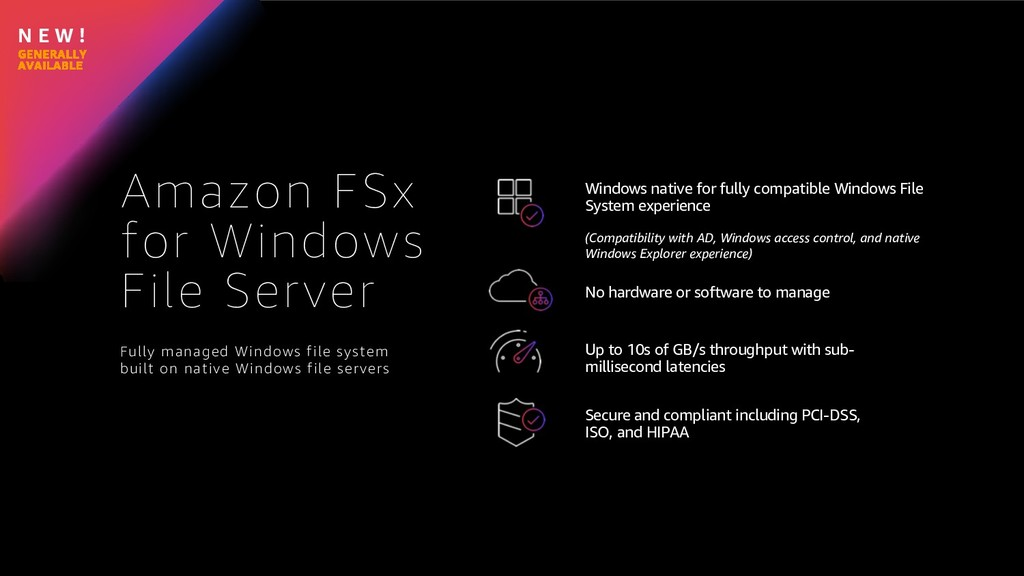 N E W ! Amazon FSx for Windows File Server Wind...