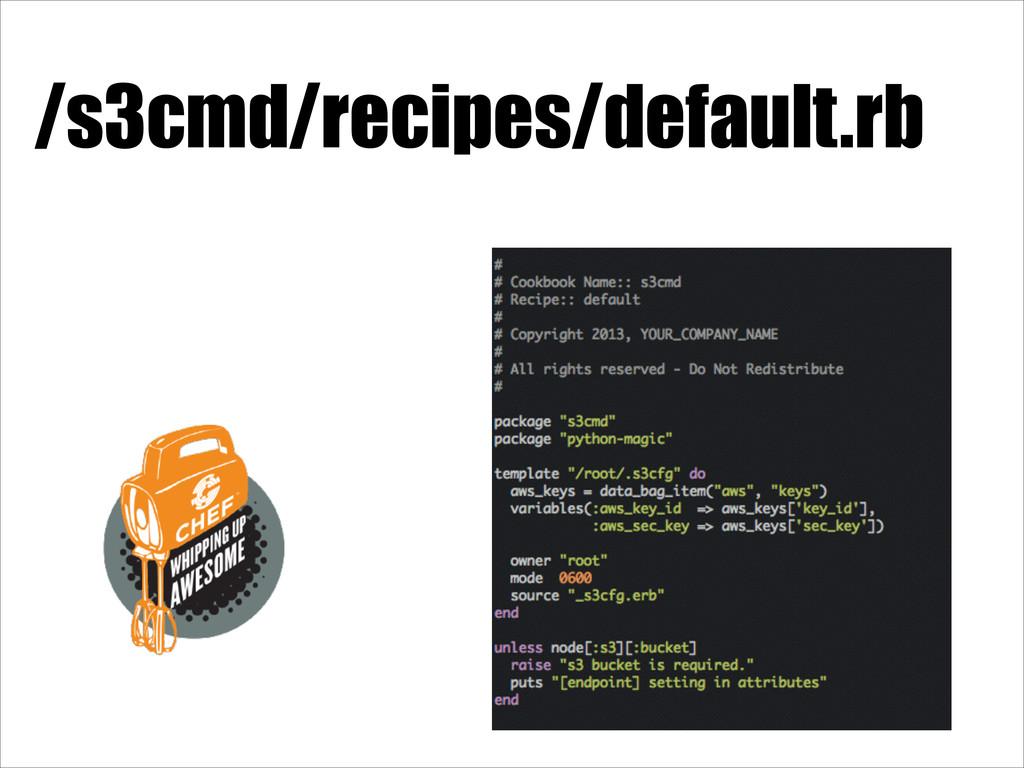 /s3cmd/recipes/default.rb
