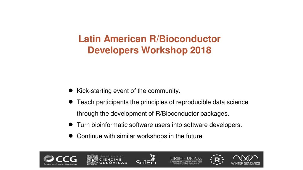 Latin American R/Bioconductor Developers Worksh...