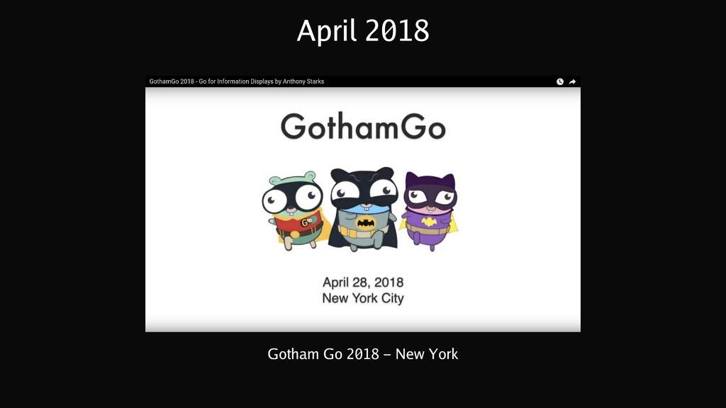 April 2018 Gotham Go 2018 - New York