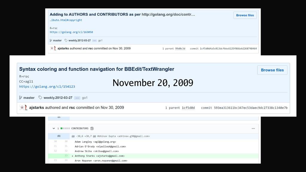 November 20, 2009