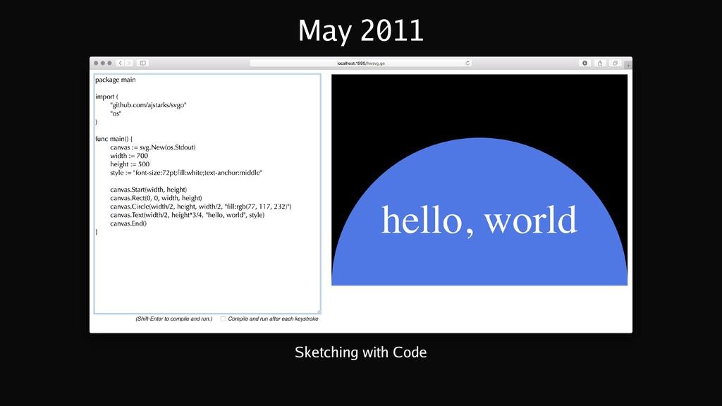 May 2011 Sketching with Code