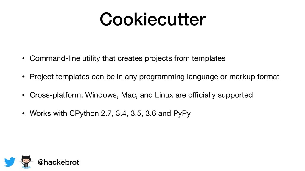 Cookiecutter • Command-line utility that create...