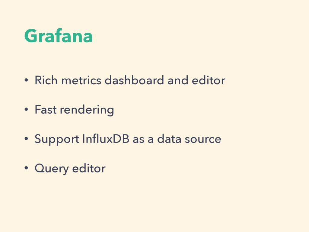 Grafana • Rich metrics dashboard and editor • F...
