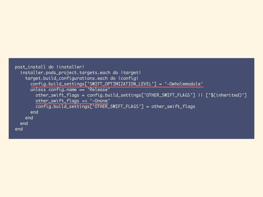 post_install do |installer| installer.pods_proj...