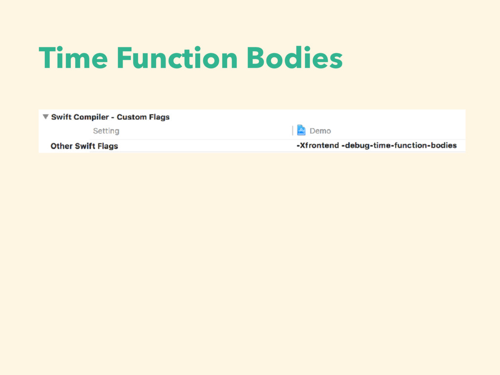 Time Function Bodies