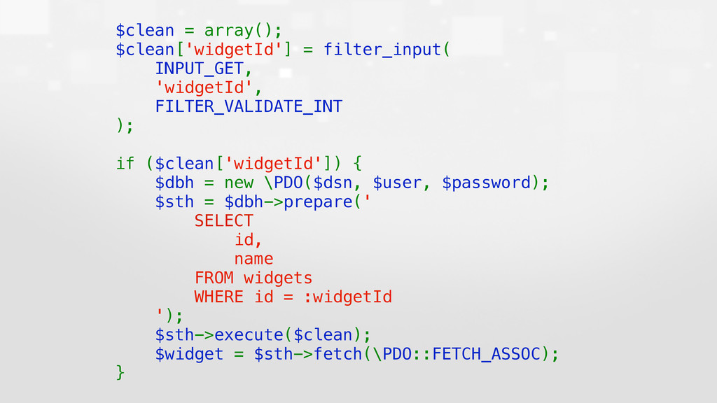 $clean = array();