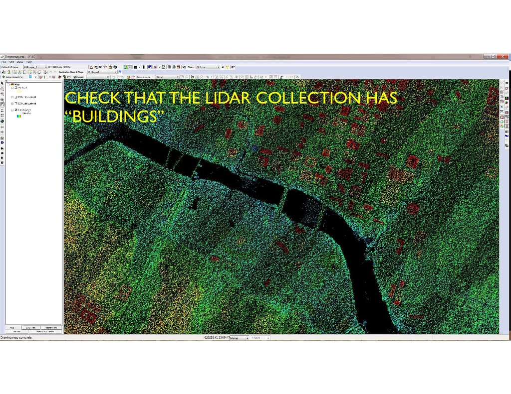 """CHECK THAT THE LIDAR COLLECTION HAS """"BUILDINGS"""""""