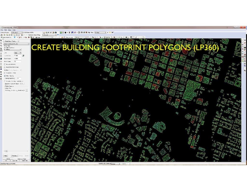 CREATE BUILDING FOOTPRINT POLYGONS (LP360)