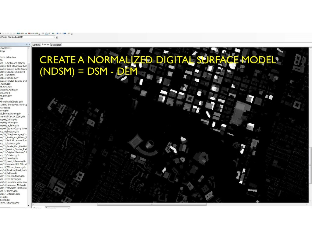 CREATE A NORMALIZED DIGITAL SURFACE MODEL (NDSM...