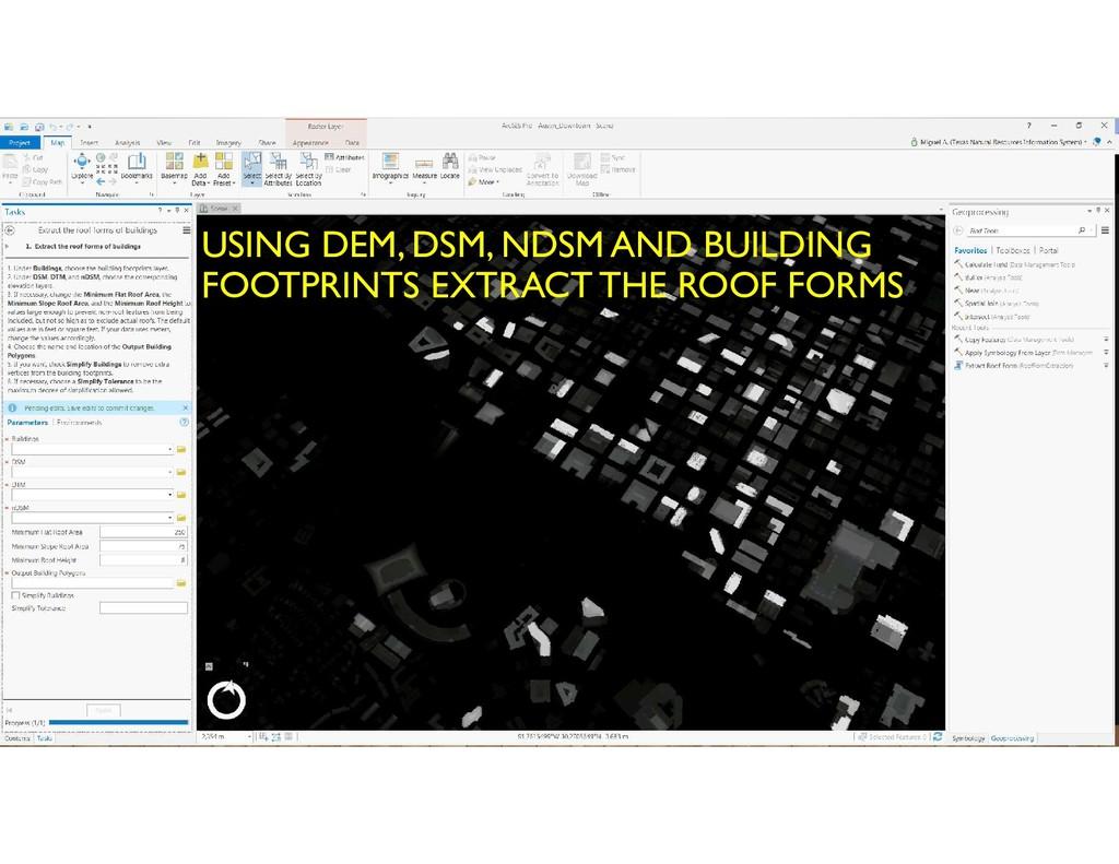 USING DEM, DSM, NDSM AND BUILDING FOOTPRINTS EX...