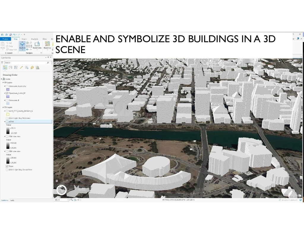 ENABLE AND SYMBOLIZE 3D BUILDINGS IN A 3D SCENE