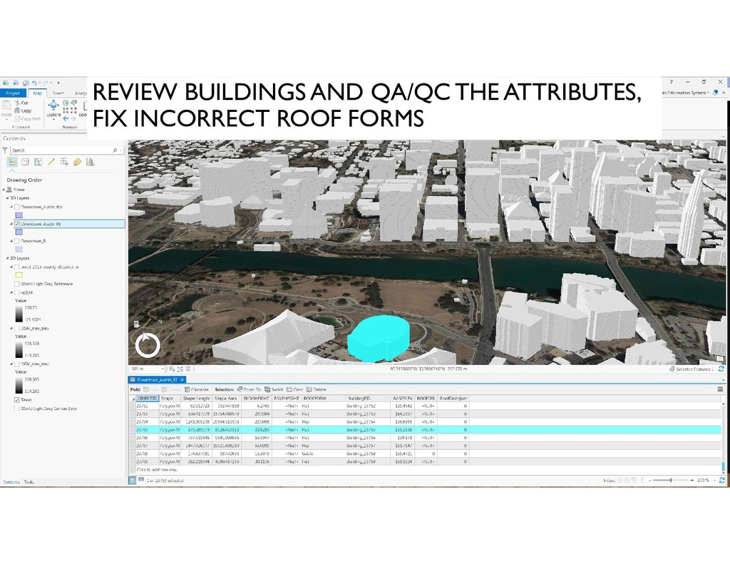 REVIEW BUILDINGS AND QA/QC THE ATTRIBUTES, FIX ...