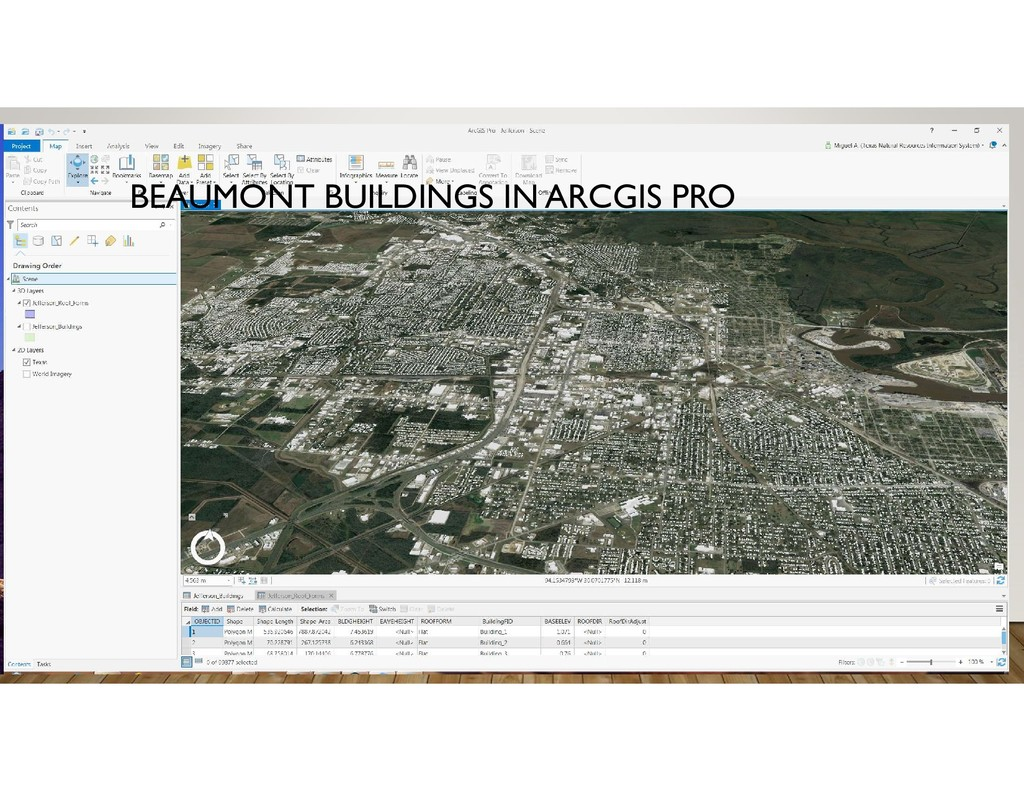 BEAUMONT BUILDINGS IN ARCGIS PRO