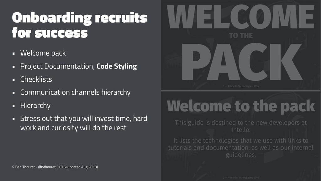 Onboarding recruits for success • Welcome pack ...