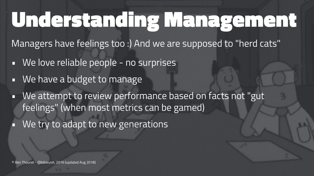Understanding Management Managers have feelings...