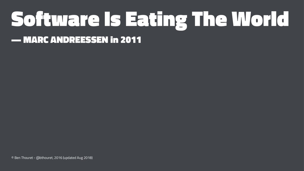 Software Is Eating The World — MARC ANDREESSEN ...