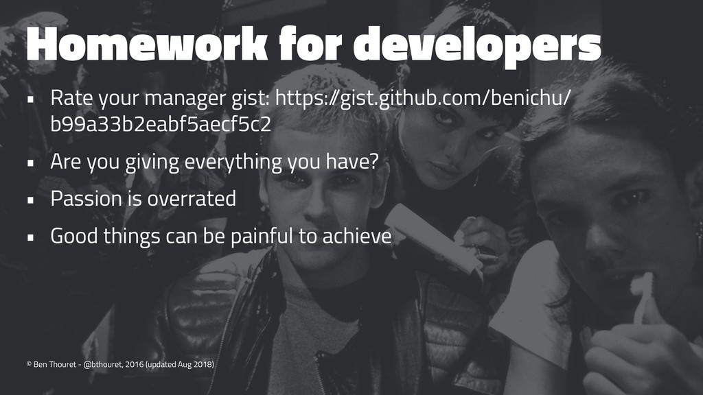 Homework for developers • Rate your manager gis...