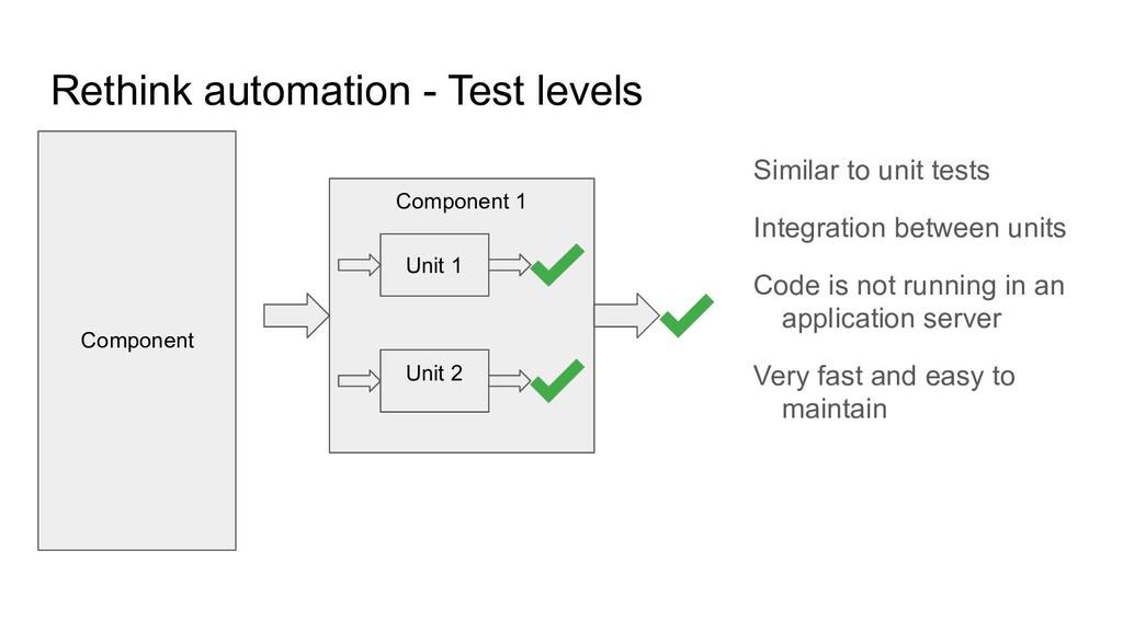 Rethink automation - Test levels Similar to uni...