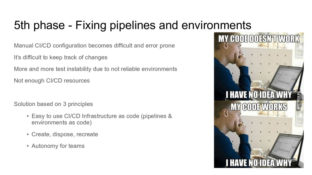 5th phase - Fixing pipelines and environments M...