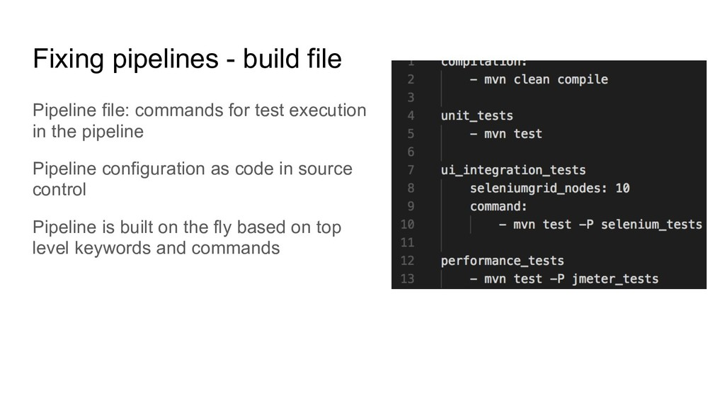 Fixing pipelines - build file Pipeline file: co...