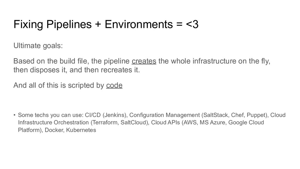 Fixing Pipelines + Environments = <3 Ultimate g...