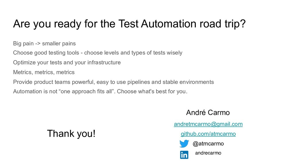 Are you ready for the Test Automation road trip...