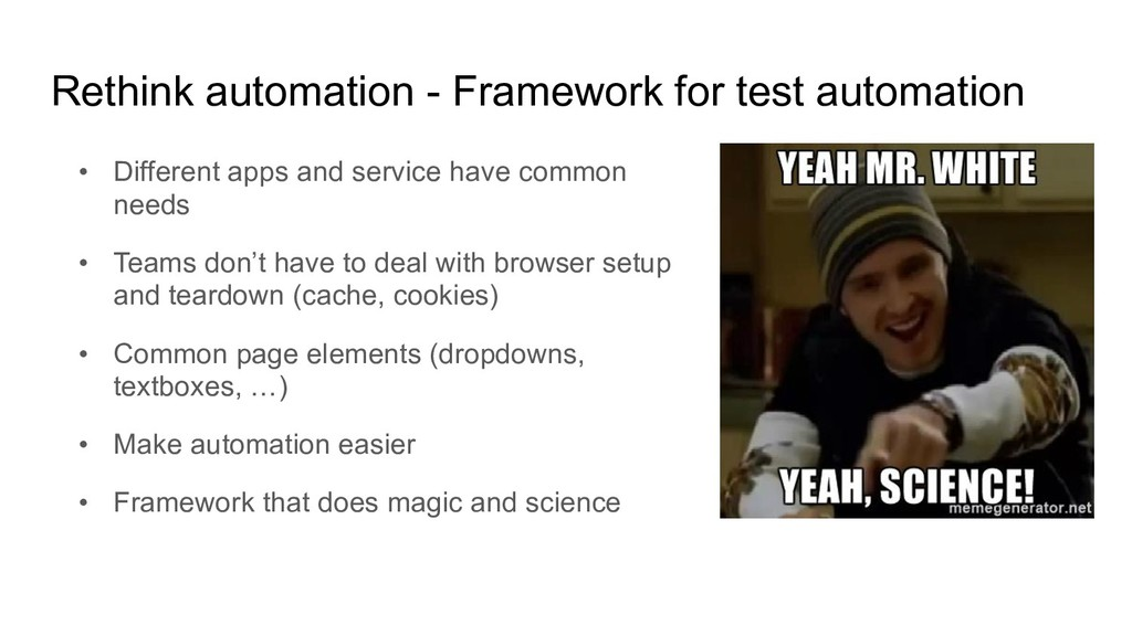 Rethink automation - Framework for test automat...