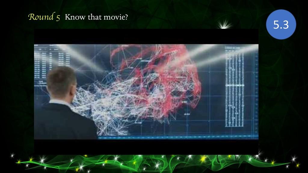 Round 5 Know that movie? 5.3
